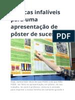 30 dicas infalíveis para uma apresentação de pôster de sucesso.doc