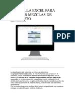 Plantilla Excel Para Diseñar Mezclas de Concreto