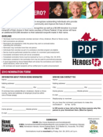 Hometown Heroes 2010 Nomination Form