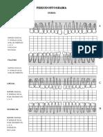 Periodontograma Formato