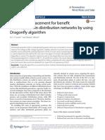 Optimal DG Placement Maximization Distribution Dragonfly Algorithm