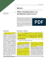 Whats is bioinformatics
