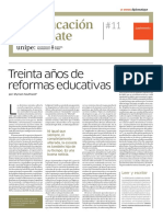 UNIVERSIDAD PEDAGOGICA Led _11 TREINTA AÑOS DE REFORMAS EDUCATIVAS