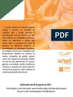 Flyer Dossiê Cerâmica e Arte Educação