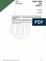 ABTN NBR ISO 12957.1 - 2013 - Geossintéticos - Determinação das características de atrito. Parte 1 Ensaio de cisalhamento direto.pdf