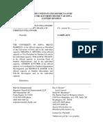 InterVarsity Christian Fellowship v. University of Iowa Complaint