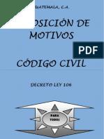 Exposicion de Motivos Codigo Civil a 3 Columnas