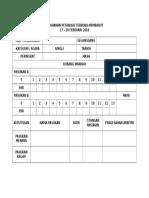 Scoresheet Petanque