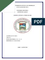 Certificacion Iso 9001