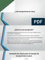 Manejo de Excepcion Java
