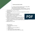 Estructura Para Plan de Estudios