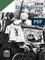 Recit Des Exhumations de Sainte Therese a Lisieux 1910 1917 1923