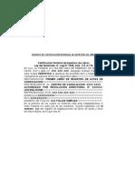 Modelo de Certificación Notarial de Apertura de Libros