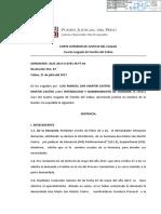 Sentencia San Martín Castro interdicción