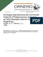 Ecologia Reproductiva Del Cormoran Imperial