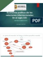 Economía política de las relaciones internacionales en el siglo xxi