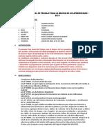 Plan Anual de Trabajo Para La Mejora de Los Aprendizajes-2015