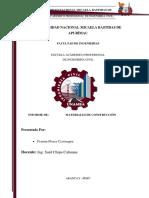 Informe de Aditivos Para El Concreto - Materiales de Construccion
