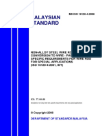 Ms Iso 16120 42008 Non Alloy Steel