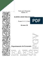 Algebra Aplicada a Economia