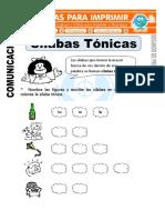 Ficha de Silabas Tonicas Para Segundo de Primaria