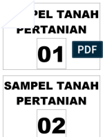 LABEL SAMPEL TANAH PERTANIAN