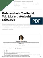 Ordenamiento Territorial Vol. 1_ La Estrategia Del Gatopardo _ La Silla Vacía
