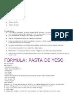 Pasta Yeso
