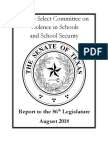 State Senate Report On School Violence & Security