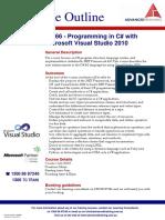 Programming in C Sharp With Microsoft Visual Studio 2010
