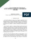 Medina, Medófilo. Algunos Factores de Violencia en El Sistema Político Colombiano 1930-1986
