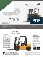 Hangcha Diesel Forklift 2.5ton