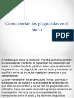 Como afectan los plaguicidas en la contaminacion del suelo