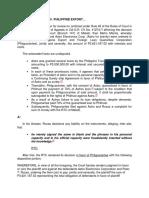(1) Astro Electronics v. Philippine Export