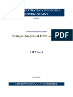 Strategic Anaslysis of HSBC and RBS