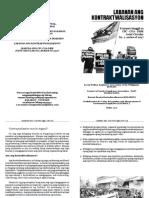 Praymer Hinggil Sa Kontraktwalisasyon Booklet