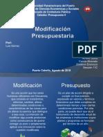 Modificacion presupuestaria