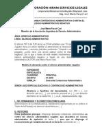 Modelo de Demanda Contencioso Administrativa Contra El Silencio Administrativo Negativo - Autor José María Pacori Cari