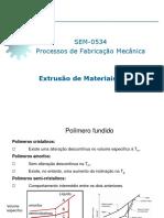 Aula 08 Extrusão Polímeros SEM-0534 2017