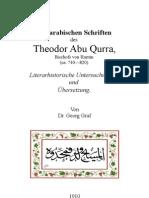 Abu-Qurrah, Deutsch-Übersetzung