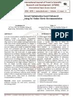 Survey on Kernel Optimization based Enhanced Preference Learning for Online Movie Recommendation