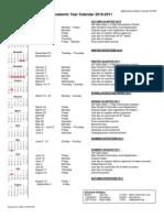DU 2010-2011 Calendar