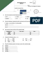 QUIZ.mathematics Six