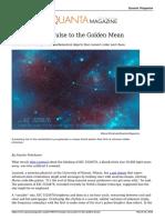 Strange Stars Pulse to the Golden Mean