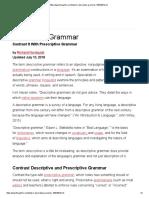 Descriptive Grammar