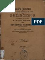 Historia Del Colegio Internado La Purísima Concepción de Cabra (Córdoba).