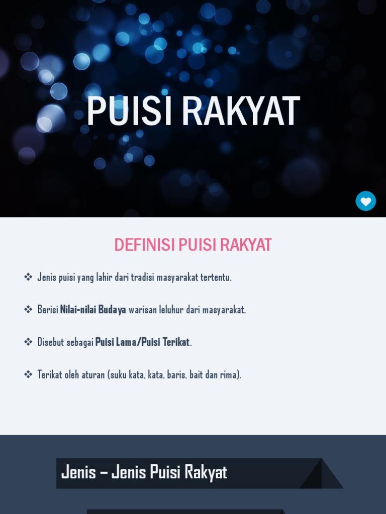 Puisi Rakyat