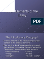 Basic Elements of the Essay