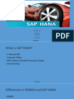 SAP HANA Introduction
