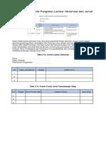 Contoh Format Serta Pengisian Lembar Observasi Dan Jurnal